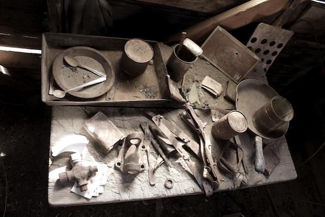 Old mining tools