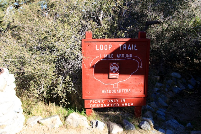 Devils punchbowl trail sign