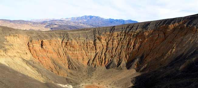 Ubehebe Crater and Little Hebe in Death Valley