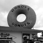 Randys Donuts black and white