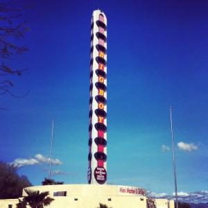 Vintage Worlds tallest thermomter