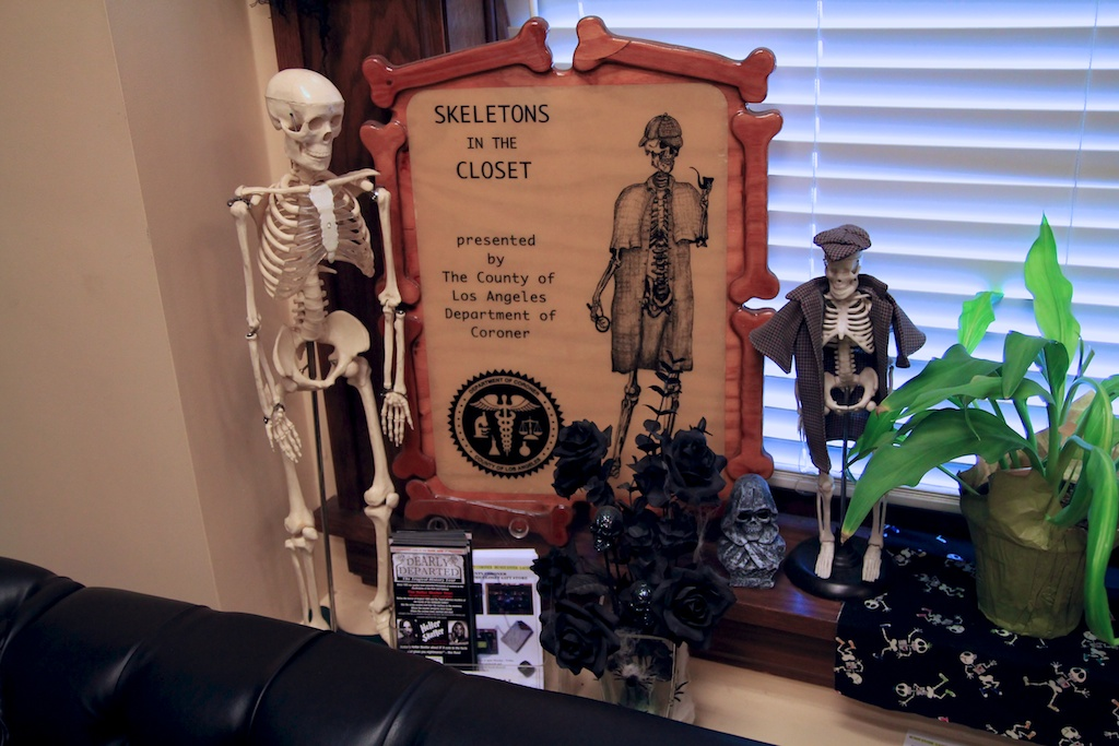 skeletons in the closet sign