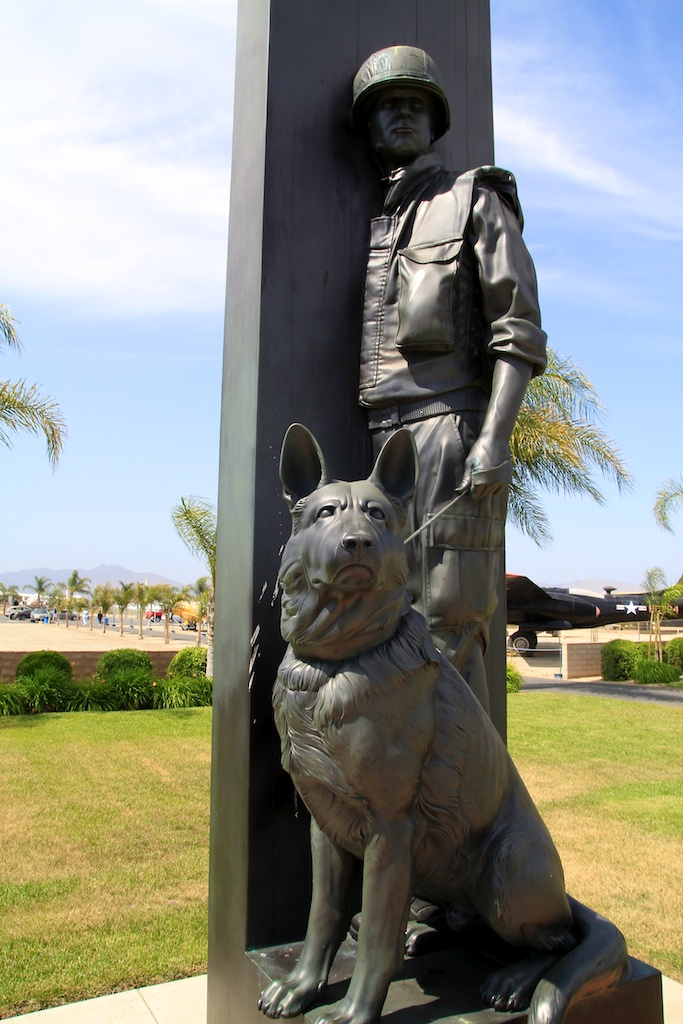 War Dogs Memorial at March Air Force Base in Riverside, CA
