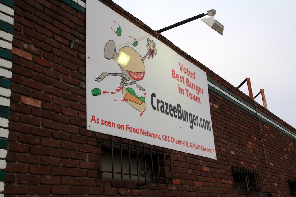 crazee burger sign
