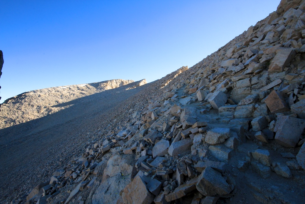 Approaching Mt Whitney Summit