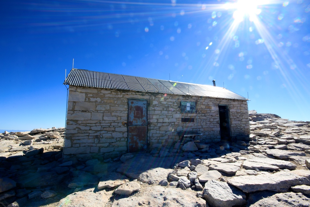 House on Mt Whitney Summit