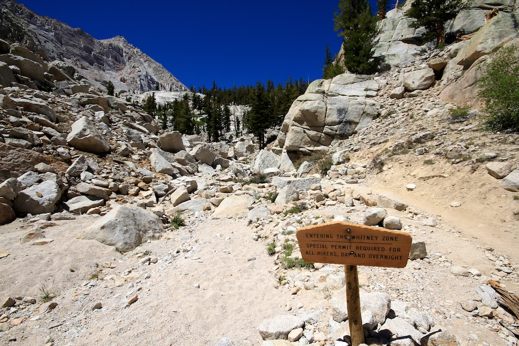 Mt Whitney Wilderness Sign
