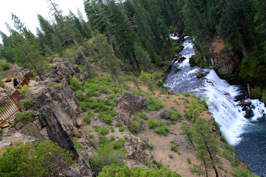 Overlooking Middle McCloud Waterfall