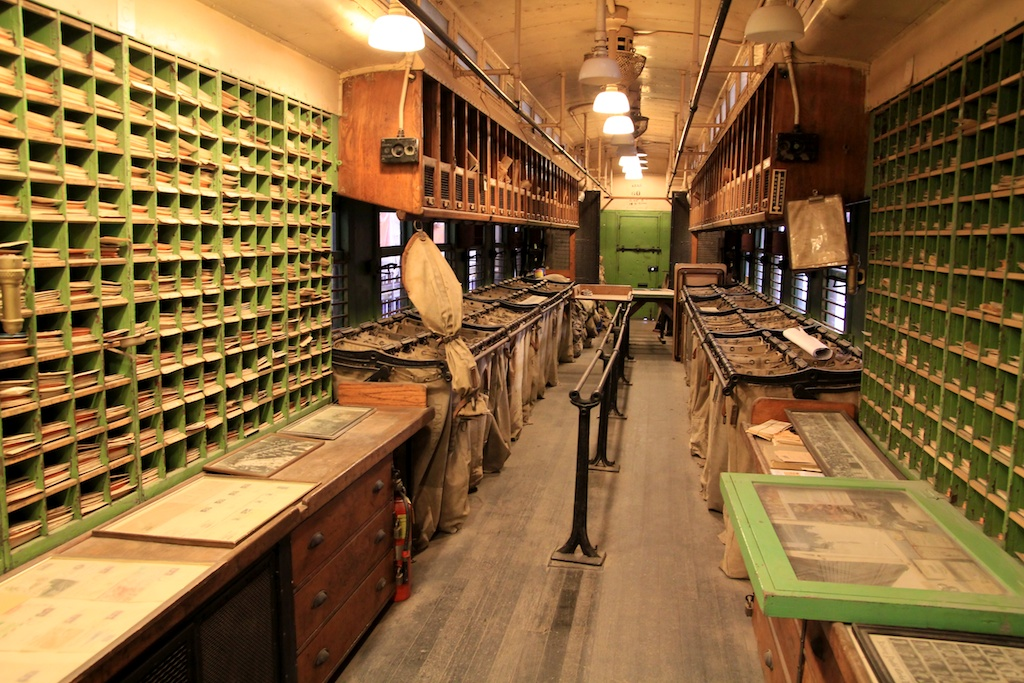 Inside an old Mail Train