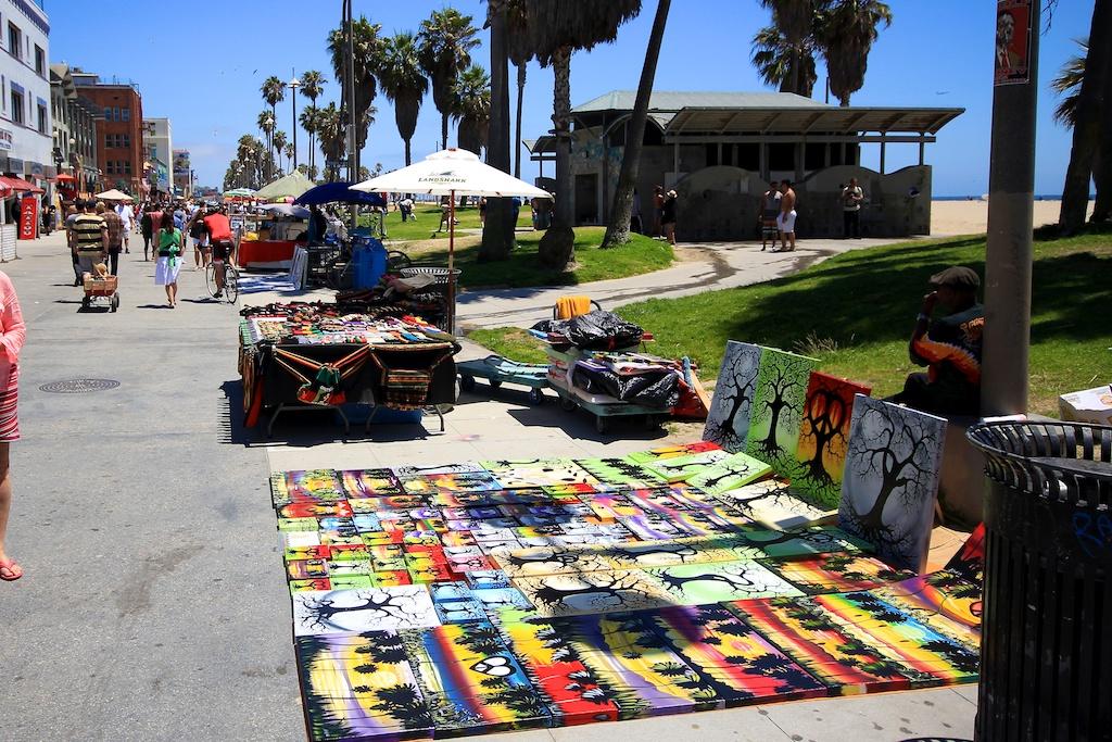 Venice Beach Boardwalk Shops Food Art Street Performers - Venice beach boardwalk map