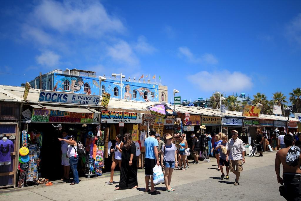 Venice Beach Boardwalk Shops Food Art Amp Street