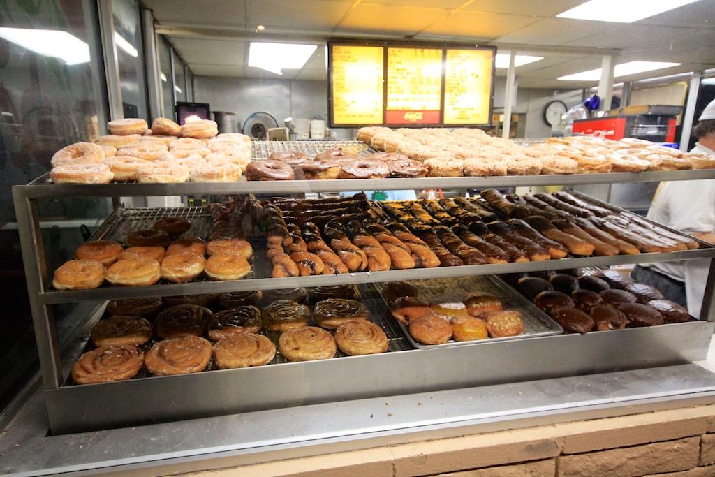 The Donut Man in Glendora: Fresh Strawberry & Peach Donuts