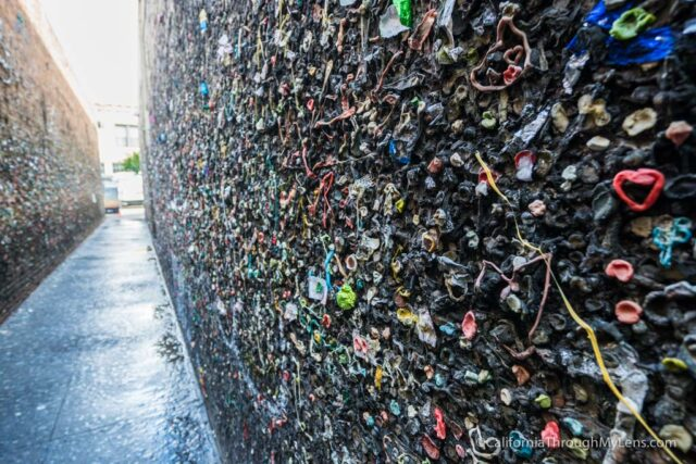 Bubblegum Alley Gum Wall Of San Luis Obispo California Through My