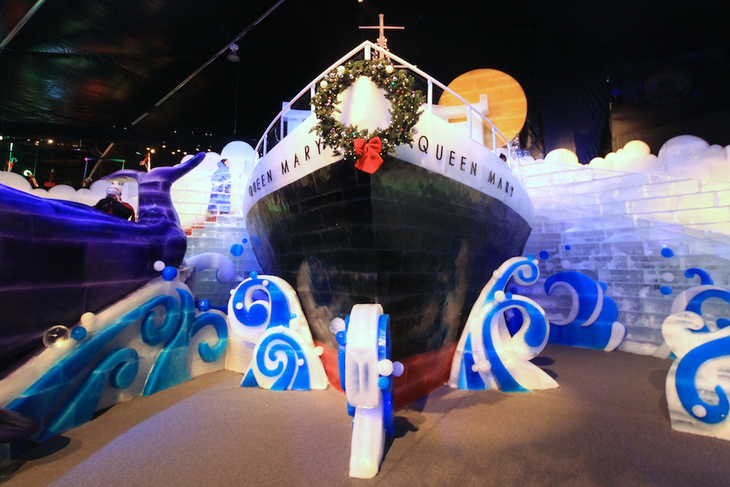 Chill: A Kingdom of Ice at the Queen Mary in Long Beach