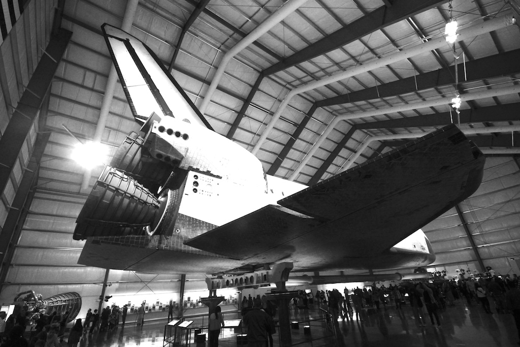 Endeavour Space Shuttle Black and White
