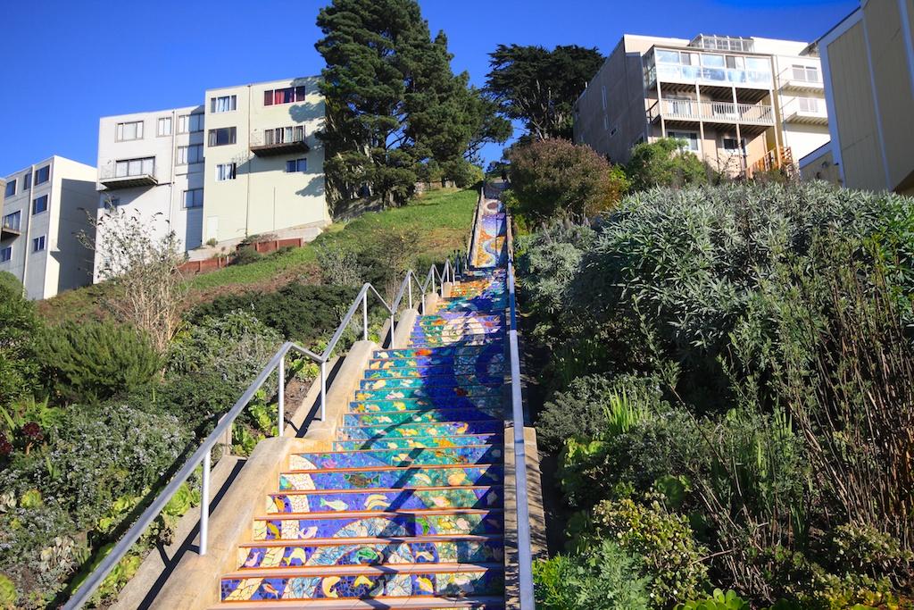 Mosaic Steps On 16th Avenue In San Francisco California