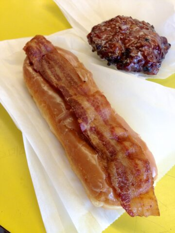 Maple Bacon and Blueberry Fritter