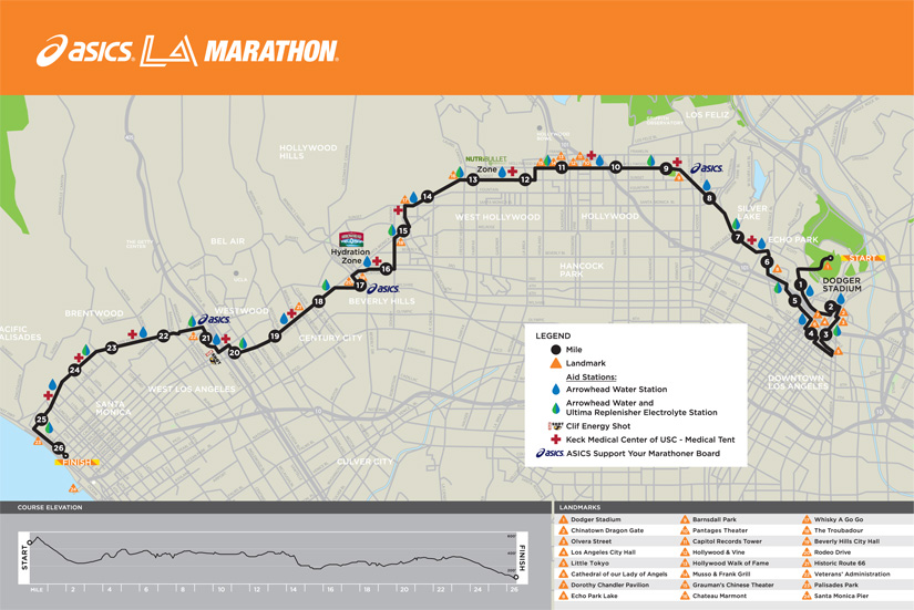 La Marathon 2014 Review Race Expo From A First Time Runner: Las Vegas Half Marathon Course Map At Infoasik.co