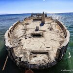 Seacliffs State Beach: Sunken Ship at the End of the Pier in Aptos, CA