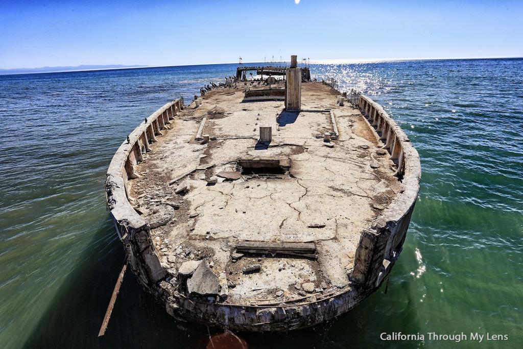 Seacliffs State Beach Sunken Ship At The End Of The Pier In Aptos Ca California Through My Lens