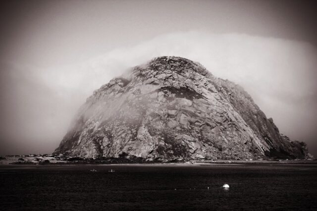 Morro-Rock-Black-and-White