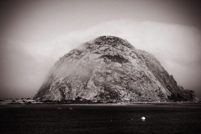 Morro-Rock-Black-and-White