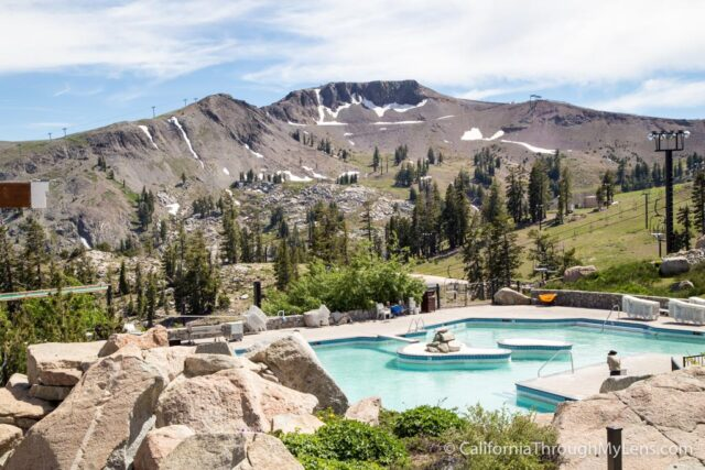 Squaw valley aerial tram to high camp california through - High camp swimming pool squaw valley ...