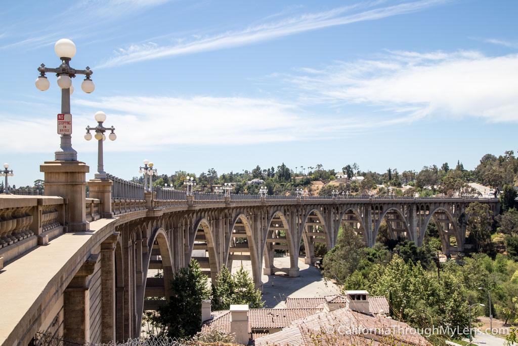 Colorado Street Bridge In Pasadena California Through My