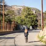 Biking the Hollywood Reservoir in Los Angeles