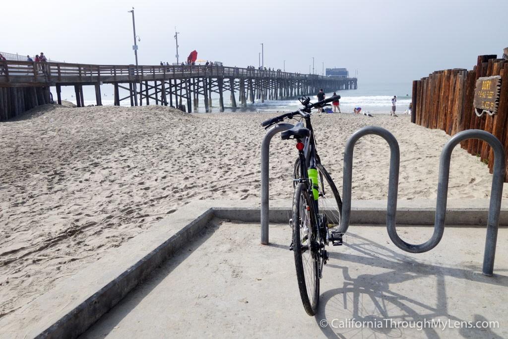 Biking from Huntington Beach Pier to Newport Beach Pier - California