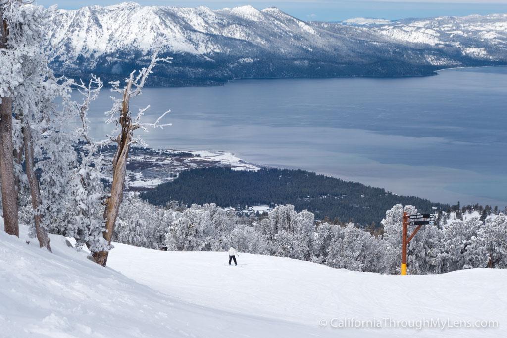 Skiing Snowboarding At Heavenly Resort In South Lake