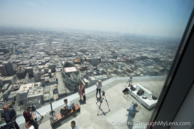 Oue Skyspace Glass Slide Open Air Observation Deck In Los