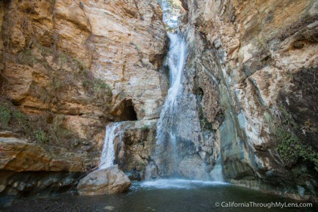 Black Star Canyon Falls One Of Southern Californias Best Most - California waterfalls map