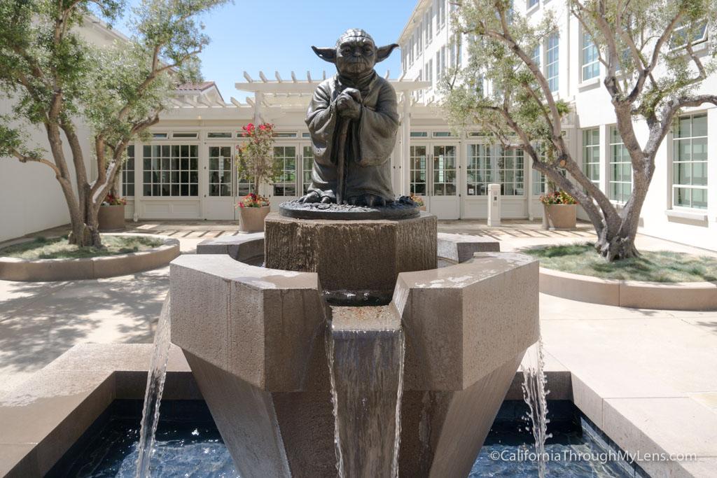 Lucasfilm San Francisco Visiting The Yoda Fountain And