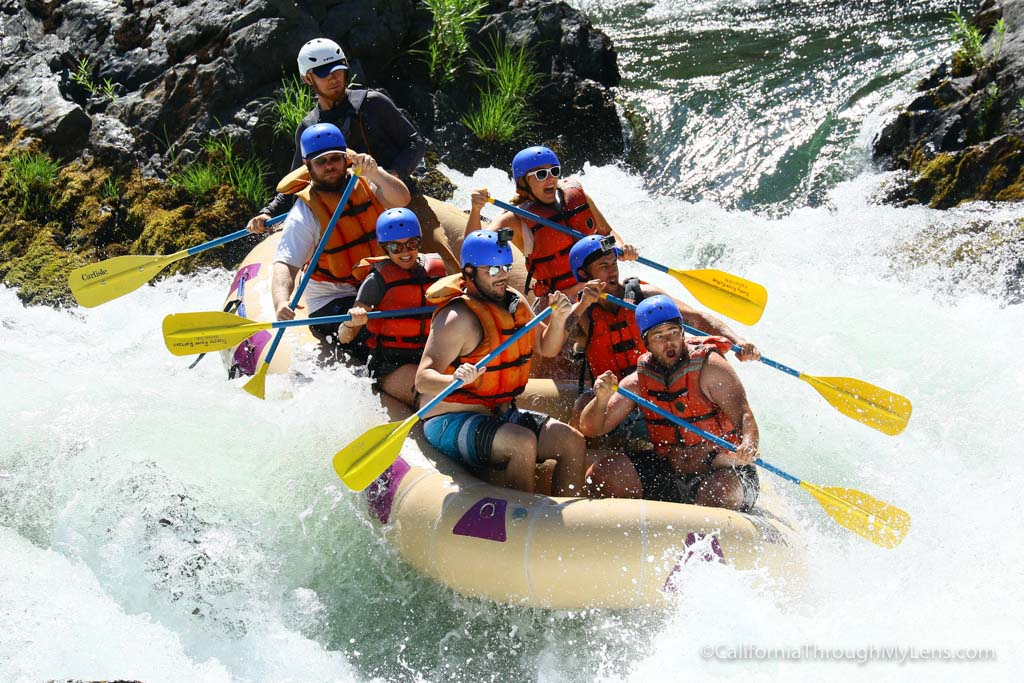 Whitewater Rafting The Trinity River Outside Of Redding