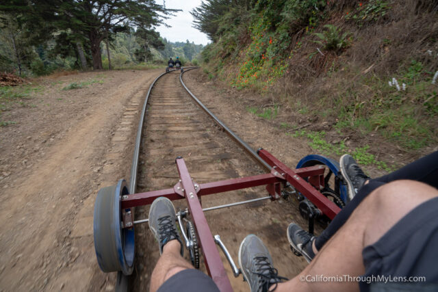 Riding the Skunk Train Railbikes in Fort Bragg - California